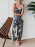 Round Neck  Sleeveless  Floral Printed  Casual Jumpsuit