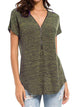 Plus-Size-Zipper-Loose-Fitting-V-Neck-Blouse-Findalls