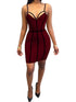 Solid Color Sexy Off Shoulder Spaghetti Strap Blackless Splicing Bodycon Mini Dress