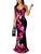 Bohemia Sexy Spaghetti Straps Backless Floral Print Mermaid Maxi Dress - Hellosasa