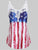 Applique Panel American Flag Tank Top - Hellosasa