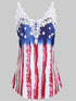 Applique Panel American Flag Tank Top