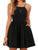 Black Spaghetti Strap Backless Party Mini Dress - Hellosasa