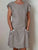 Round Neck  Solid Color Pocket Casual Loose Linen Dress