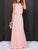 Solid Color Elegant Halter Cold Shoulder Cutout Back Pleated Casual Maxi Dress