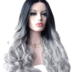 Sexy Women Long Hair Gradient Big Wave Long Curly Wig