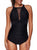 Women One Piece High Neck V