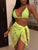 3 Piece/Set Beach Bikini Set & Cover Ups - Hellosasa