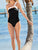 White Halter Solid One Piece Swimsuit Set
