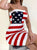 Playful-Sleeveless-Bandeau-Flag-Bodycon-Mini-Dress-Findalls