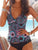 Printed Underwire Tankinis Swimsuit Set