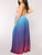 Bohemia Sexy Halter Sleeveless Backless Gradient Color Pleated Casual Maxi Dress - Hellosasa