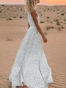 Polka-Dot-Tassel-Sleeveless-Maxi-X-line-Dress-Findalls