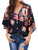 V Neck Floral Casual Loose Blousees