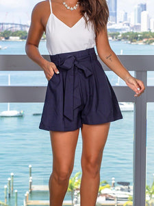 Navy Romper with Pockets