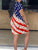 American Flag Short Loose Dress - Hellosasa