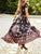 Boho Long Maxi Floral National Chiffon Dress - Hellosasa