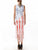 American Flag Tassel Dipped Hem Bodycon Midi Dress - Hellosasa
