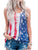 Casual Sleeveless American Flag T-shirt