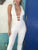 White Sexy V Neck Sleeveless Hollow Out Backless Bandage Jumpsuit