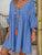 V Neck Over Size Solid Color Casual Loose Linen Dress