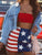 American Flag Mini Skirt - Multicolor - Hellosasa