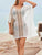Crochet Caftan Cover Up Swimsuit Set