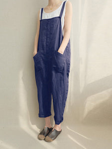 Plus Size Romper Overalls Casual Pants Jumpsuit