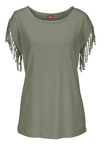 Casual-Short-Sleeve-T-Shirt-Tassels-Sleeves-Blouse-Findalls