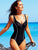 Plus Size Halter Solid One-piece Swimwear