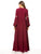 Plus Size Round Neck Long Sleeve Jacquard Embroidery Casual Loose Maxi Dress