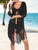 Open Front Crochet Cover-Up Swimsuit Set