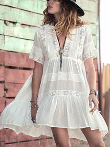 Sweet Lace Dress Women's Beach Style Summer Dress