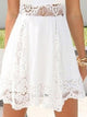 Lace-Crochet-Floral-Tunic -Flared-Holiday-Mini-Dress-Findalls