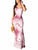 Spaghetti Straps Sleeveless Backless Tie Dye Print Casual Mermaid Maxi Dress