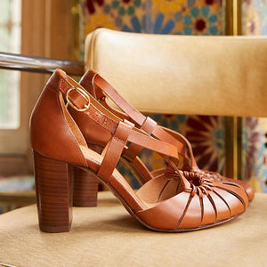 Multi-strap Cut-out Elegant High-heeled Sandals