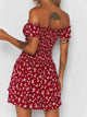 Summer Society Red Floral Dress