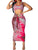 Sexy Two Piece Set U Neck Sleeveless Tie Dye Knotted Bodycon Dress