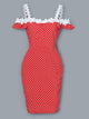 Lace-Applique-Off-Shoulder-Dots-Print-Dress-Findalls