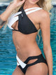 Solid Two Halter Swimsuit Bikinis