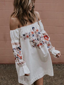 Sexy-Print-Off-the-shoulder-Flared-Sleeves-Mini-Dress-Findalls