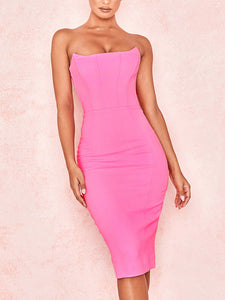 Sleeveless Solid One Shoulder Sexy Bodycon Party Dress