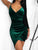 Irregular Wrap Velvet Bodycon Dress