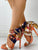 Satin Print Knotted Detail Thin Heeled Sandals
