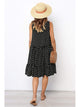Plus Size Round Neck Sleeveless Polka Dot Ruffles Casual Midi Dress