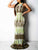 Sweet Printed Hollowed-out Floor Length Dress