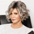 Fashionholy Trendy Short Curly Silver Wig