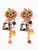 Halloween Elements Fashion Personality Creative Pumpkin Oil Drop Funny Earrings Alloy Ladies Earrings