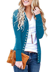 Long Sleeves Buttons Design Cardigan Coats