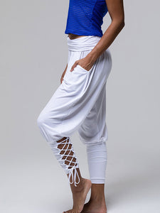Lace Up  Women Ruched  Jogger Pants